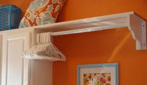 shelf with hanging rod extend your storage homesfeed