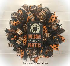 Deco Mesh Halloween Wreath Ideas by Witch Wreath Halloween Wreath Halloween Wreaths