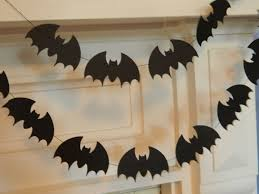 paper bat garland halloween decor 6ft black bats garland