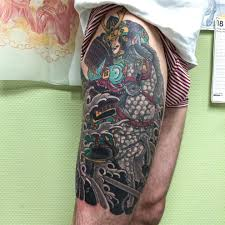 classic japanese u2013 black tide tattoo
