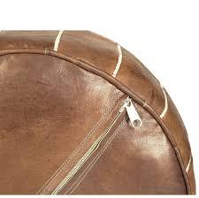 Ottoman Morocco Moroccan Buzz Unstuffed Premium Leather Pouf Ottoman