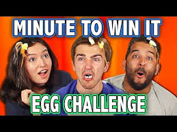 win it all cast minute to win it egg roulette challenge ft teens react cast