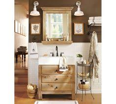 Pottery Barn Bathroom Ideas Reclaimed Wood Single Sink Console Wax Pine Finish Powder