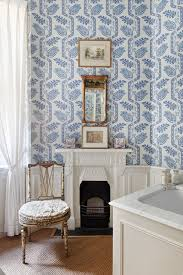bathroom wallpaper ideas blue white bathroom wallpaper bathroom design ideas