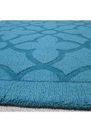 Hand Loomed Rug Buy Flamenco Turquoise Area Rug Hand Loomed Quatrefoil Decorshore