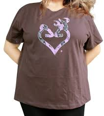 Plus Size Camouflage Clothing Browning Mossy Oak Pink Tshirt Camo Buckheart Tee Top Xxl 1x 3x 2x
