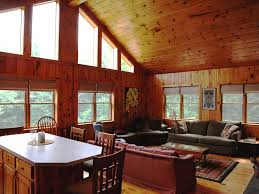 Cathedral Ceilings In Living Room by Retreat In The Woods Homeaway Savoy