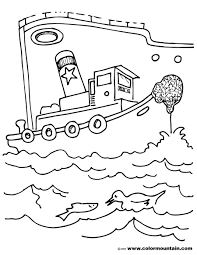 tug boat color sheet create a printout or activity