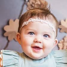 baby girl hair christening headbands baptism wraps flower girl bands