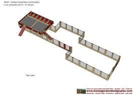 Chicken Coop Floor Plan Home Garden Plans M104 Chicken Coop Plans Construction