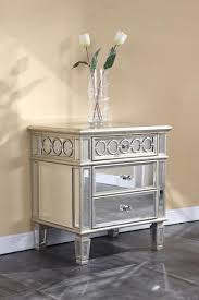 Small Nightstand Table Furniture Complete Your Bedroom With Beautiful Mirrored