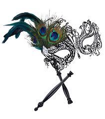 teal masquerade masks coxeer masquerade mask on stick black