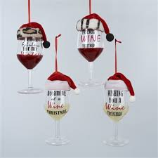 wine glass christmas ornaments wine glass ornaments are topped with animal print fur