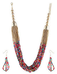 colour beads necklace images Anuradha art multi colour stylish beads styled classy trendy long jpg