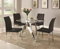 glass dining room table sets