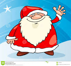 image gallery of cartoon christmas santa