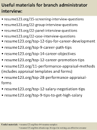 Admin Resume Objective Examples by Top 8 Branch Administrator Resume Samples
