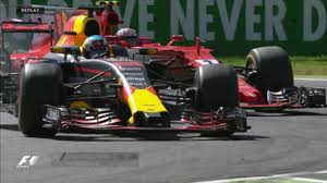 formula 3 vs formula 1 italian gp daniel ricciardo makes move of the day on kimi