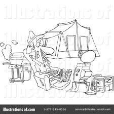 camping clipart 437223 illustration by toonaday