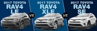 toyota l vs le 2017 toyota rav4 le vs 2017 toyota rav4 xle vs 2017 toyota rav4 se