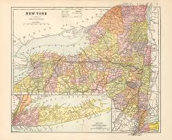 Counties In Ny State Map Erie Canal Maps