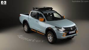 mitsubishi pickup 2016 360 view of mitsubishi l200 geoseek 2016 3d model hum3d store