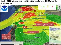 Oregon Wildfire Map by California Smoke Information Aug 4th 2017 Widespread Smoke And