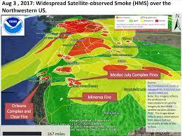 California Wildfire Smoke Map by California Smoke Information Aug 4th 2017 Widespread Smoke And