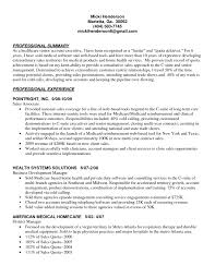 Health Care Resume Sample by Professional Summary And Senior Account Executive Health Care