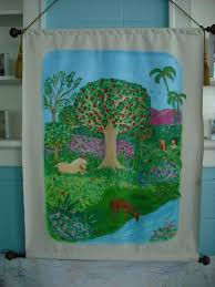 Mural Painting On Canvas by Garden Of Eden U0026 How To Paint On Unstretched Canvas Katie Rogers