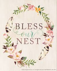 bless our nest u2013 free printable watercolor artwork for spring