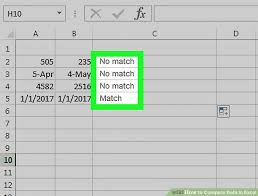 3 ways to compare data in excel wikihow