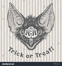 halloween logo black background trick treat vintage halloween illustration poster stock vector