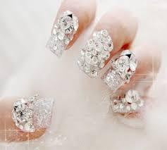 imagenes de uñas acrilicas con pedreria diseños de uñas con piedras de cristal
