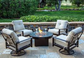 ideas patio seating sets or padded sling 4 piece patio seating set