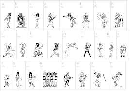 stencil drawings of women dingbat by fontsi com