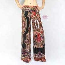 new womens foldover waist ornament leopard palazzo wide leg