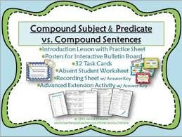 compound subjects and verbs worksheet worksheets