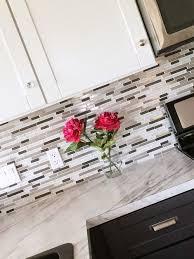 kitchen glass tile backsplash ideas mosaic glass tile backsplash with metal in it white and gray