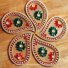 rangoli floor art ulta pan red set of 7 pieces
