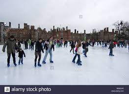 skating on the winter rink at hton court palace