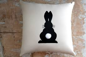 Rabbit Home Decor Easter Pillow Bunny Rabbit Easter Decor Home Decor Cottage
