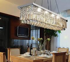 rectangular crystal chandelier dining room luxurydreamhome net