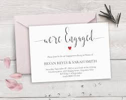 Invitation Card For Engagement Ceremony Printable Engagement Invitation Template We U0027re Engaged