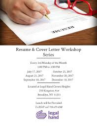 Cover Letter For Resume Resume And Cover Letter Workshop U2014 Legal Hand