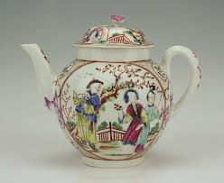 mandarin porcelain antique 18thc porcelain tea pot worcester mandarin 149