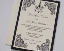 and black wedding invitations handmade wedding invitations on etsy by embellishedpaperie