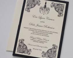 and black wedding invitations handmade wedding invitations on etsy by embellishedpaperie