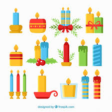 big collection of various christmas candles vector free download