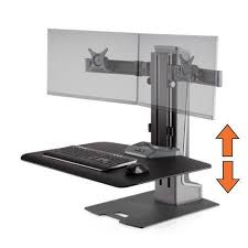 adjustable monitor stand for desk stand steady winston e electric dual monitor mount sit stand desk